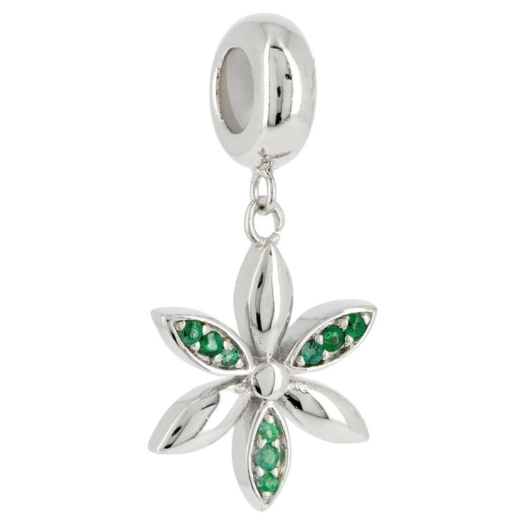 LYRIDEA - Charm Passion Florale - Emeraude